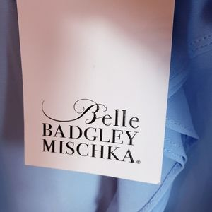 Bella Badgkey Mischka Tops - Bella Badgkey Mischka Baby Blue Cold Shoul…